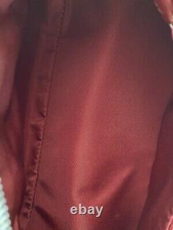 Rare Vtg Christian Dior Par John Galliano Blanc Rouge Voiture Sac En Cuir