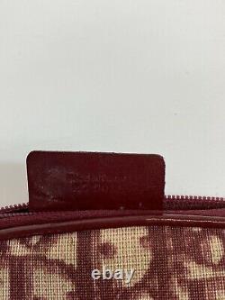 Rare Vtg Christian Dior Par John Galliano Red Trotter Monogram Sac En Pvc