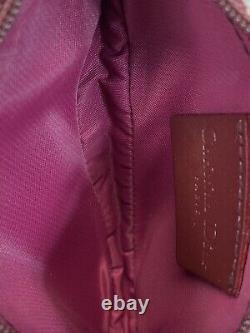 Rare Vtg Christian Dior Par John Galliano Red Trotter Monogram Zip Saddle Pouch