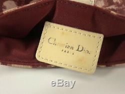 Rare Vtg Christian Dior Par John Galliano Rouge Mini Pvc Sac À Bandoulière