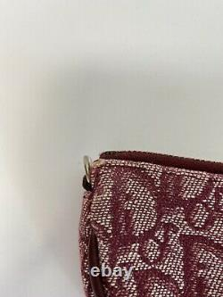 Rare Vtg Christian Dior Par John Galliano Rouge Trotter Selle Sac Pochette