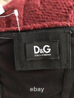 Rare Vtg Dolce & Gabbana Corset À Mailles Rouges D&g Top Xs