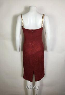 Rare Vtg Dolce & Gabbana Red Lace Corset Robe S 42