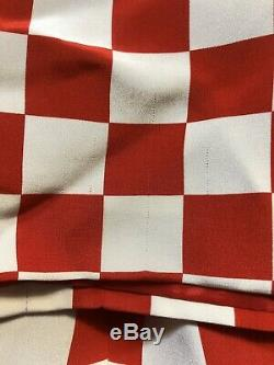 Rare Vtg Gianni Versace Checker En Soie Rouge Imprimer Mini Robe 1995 M