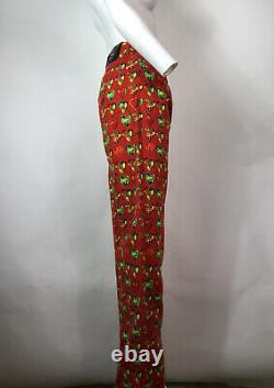 Rare Vtg Gianni Versace Jeans Red Heart Print Jeans M