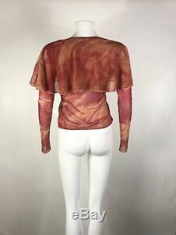 Rare Vtg Jean Paul Gaultier Red Cap Top S