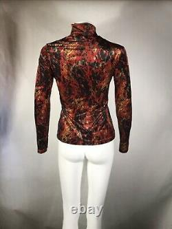 Rare Vtg Jean Paul Gaultier Red Velour Top S
