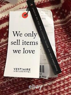 Rare Vtg Jean Paul Gaultier Rouge Chandail Sans Dos M