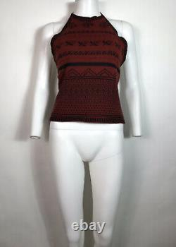 Rare Vtg Jean Paul Gaultier Rouge Nordic Knit Highless Highless Back