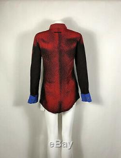 Rare Vtg Jean Paul Gaultier Rouge Op Art 1996 Top S