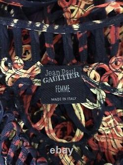 Rare Vtg Jean Paul Gaultier Rouge Orange Ouvert Crop Top S