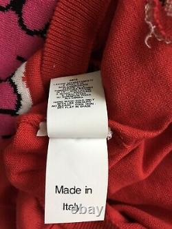 Rare Vtg Moschino Couture! Rouge Powerpuff Filles Cotton Sweater Xs
