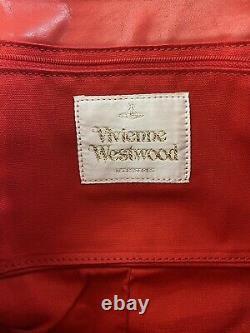 Rare Vtg Vivienne Westwood Ivoire Red Orb Logo Sac À Bandoulière