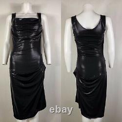 Rare Vtg Vivienne Westwood Red Label Black Wet Look Dress S