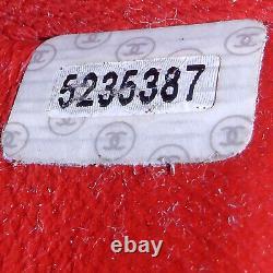 Rise-on Vintage Chanel Caviar Skin Medallion Sac À Bandoulière Rouge Sac À Bandoulière #2306
