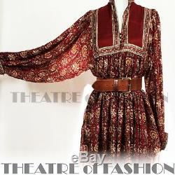 Robe Indian Phool Silk 70 Cru De Mariage 8 10 12 14 16 60 Hippy Boho Déesse