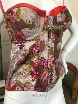 Roberto Cavalli Vintage Floral Pattern Corset With Lace Up Détails