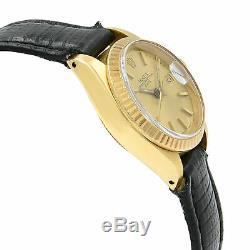 Rolex Date De 6917 Sticks Or Jaune 18 Carats Cadran Champagne Automatique Montre Femme