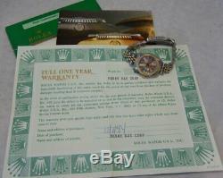 Rolex Datejust 18k / Ss Or Montre Tout Orig Jubilee Qset Sapp W \ Papiers 1984