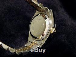 Rolex Datejust 2tone Or Jaune 18 Carats Et Acier Montre Rose Mop Diamant 69173