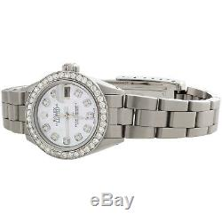 Rolex Datejust Diamond Watch Oyster Perpetual Steel 6917 Mop Dial 1 Ct