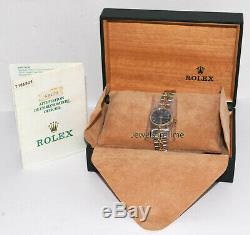Rolex Datejust En Or Jaune 18 Carats Et Acier Cadran Bleu 26mm Coffret / Documents T 69173