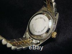 Rolex Datejust En Or Jaune Montre En Acier Inoxydable Argent Diamant 69173