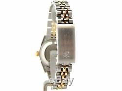 Rolex Datejust Lady 2tone 14k Montre En Or Jaune En Acier Blanc Mop Romaine Cadran 6917