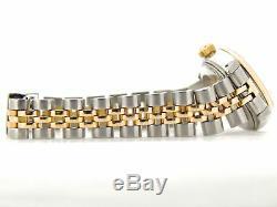 Rolex Datejust Lady 2tone En Or 18 Carats Montre En Acier Inoxydable Champagne Diamant 69173