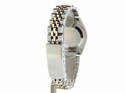 Rolex Datejust Lady 2tone Or 14k Montre En Acier Inoxydable Blue Diamond Dial 6917