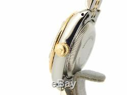 Rolex Datejust Lady Or Jaune Et Blanc Montre En Acier Diamond Dial Et Lunette 69173