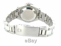 Rolex Datejust Lady Ss Montre En Acier Inoxydable Blanc Mop Diamond Cadran. 70ct Bezel