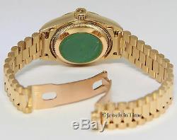 Rolex Datejust Président Or Jaune Champagne Bâton Cadran Montre 69178