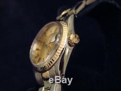 Rolex Femme Date 2tone Or Jaune Et Montre En Acier Oyster Cadran Champagne 6917