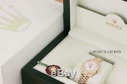 Rolex Ladies Président Usine Dial Diamond 18k Quickset Montre En Or Jaune