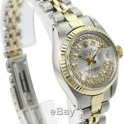 Rolex Or Femmes Et Datejust En Acier D'argent Chaîne Diamant De 26mm