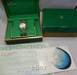 Rolex Oyster Perpetual Date De 6917 Mesdames Montre Avec Boite Et Papiers All Orig 1977