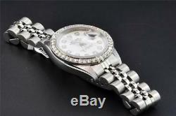 Rolex Oyster Perpetual Date De Juste Pour Femme En Acier Inoxydable Diamond Watch 1.50 Ct
