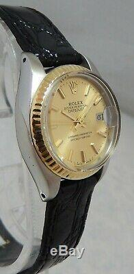 Rolex Oyster Perpetual Datejust 18k / Ss Or Ladies Watch With Orig Papers 1978