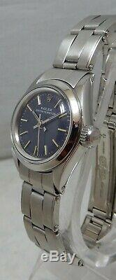 Rolex Oyster Perpetual Mesdames Montre En Acier Inoxydable All Orig W \ Box Papers 1973