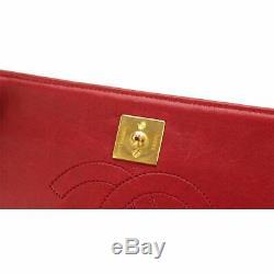 Sac Chanel Mini Matelassée Épaule De La Chaîne En Cuir Rouge Vintage 90100567