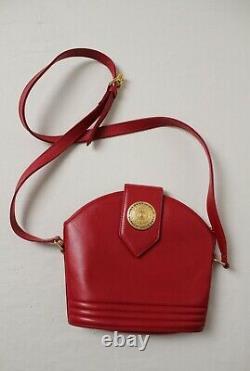 Sac Yves Saint Laurent Vintage Red Leather Shoulder Crossbody