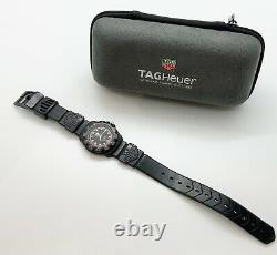 Tag Heuer Vintage Formule 1 Série 383,513 / 1 Noir Et Cadran Rouge Bracelet En Caoutchouc Noir