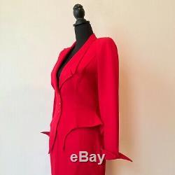 Thierry Mugler Rouge Paris Rare Vintage Jagged Wasp Jupe Costume Sz 38