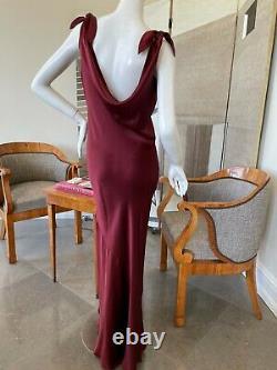 Unlabeled John Galliano Attributed Vintage Bias Cut Evening Dress W Drapé Back