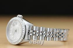 Véritable Mesdames Rolex Datejust Diamant Blanc Or Montre En Acier Inoxydable