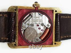 Véritable Vintage Ladies Cartier Tank Watch 18k Solid Gold Case Leather Strap