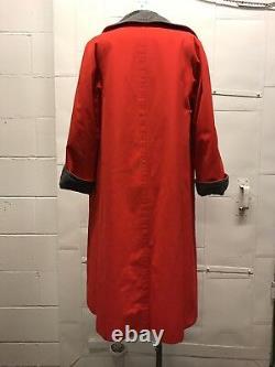Vieilles Femmes Bonnie Cashin Red Storm Coat Avec Fermeture De Turnlock Greyliningm/l