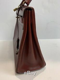 Vintage 1962 Authentique Hermes Kelly Sac Purse Rouge Rouge