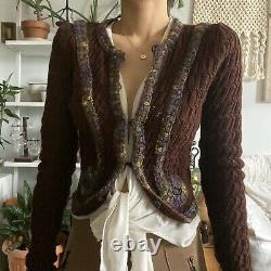 Vintage Anna Sui Tailcoat Laine Cardigan Xs